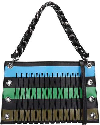 Sonia Rykiel Multicolored Leather Double Pounch Bag