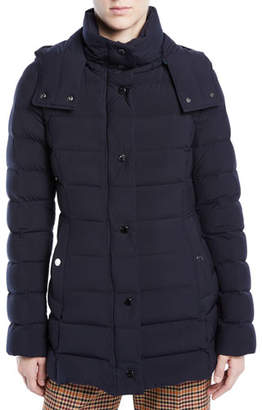 Moncler Harelde Channel-Quilted Puffer Coat