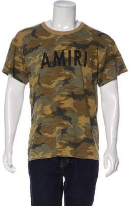 Amiri Shotgun Distressed Camouflage T-Shirt w/ Tags