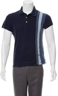 Dolce & Gabbana Woven Short Sleeve Polo