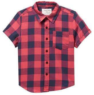 Sovereign Code Retrot Short Sleeve Button Up Shirt (Little Boys)