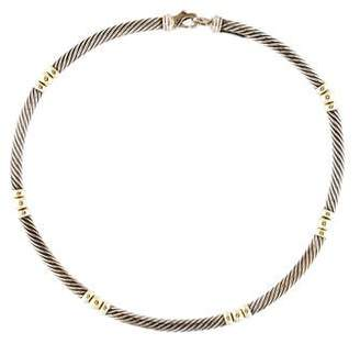 David Yurman Two-Tone Hampton Cable Necklace
