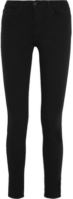 J Brand - 620 Super Skinny Mid-rise Jeans - Black $200 thestylecure.com