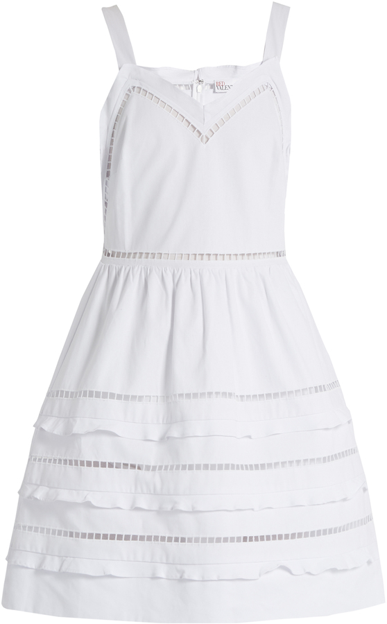 RED ValentinoREDVALENTINO Ladder-lace trimmed cotton dress