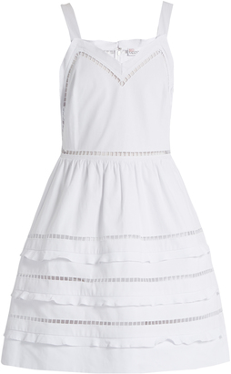 REDVALENTINO Ladder-lace trimmed cotton dress $395 thestylecure.com