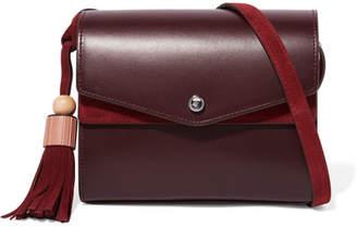 Elizabeth and James - Eloise Leather And Suede Shoulder Bag - Burgundy $395 thestylecure.com