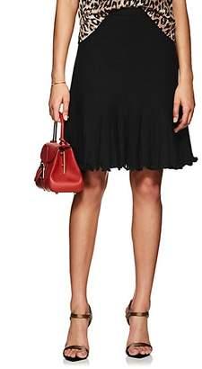 Barneys New York Women's Wool-Silk Knit Godet Skirt - Black