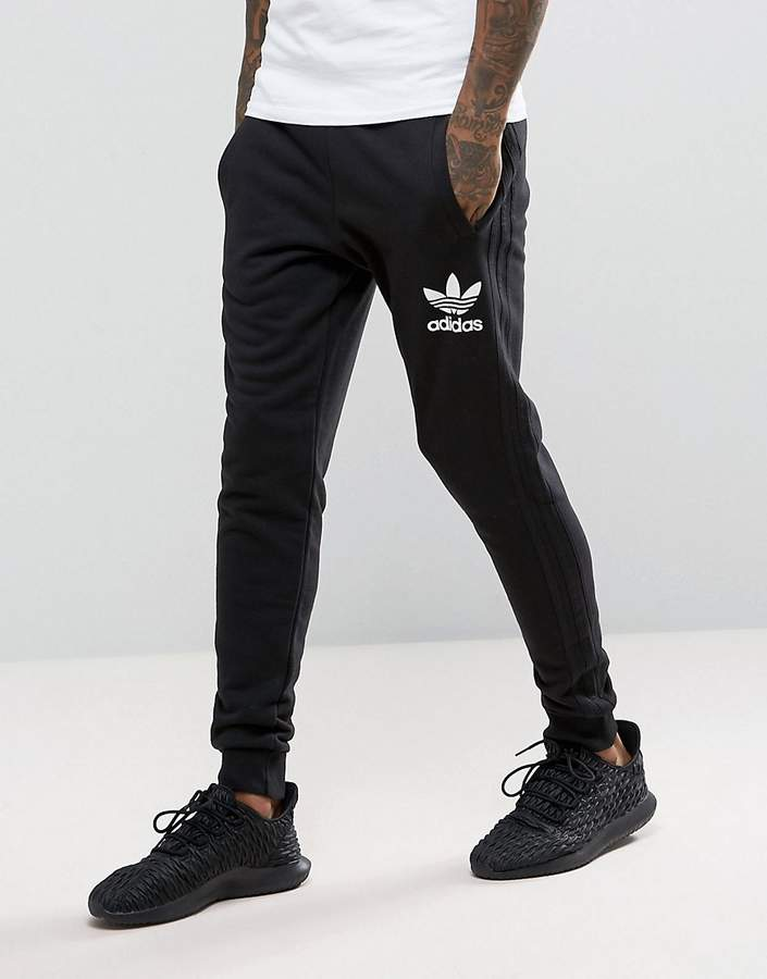 adidas Originals 3 Stripe Jogger In Black BS4629