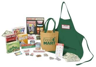 Melissa & Doug Fresh Mart Grocery Store Play Food and Role Play Companion Set (84 pcs)