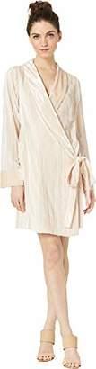 BCBGMAXAZRIA Azria Women's Velvet Tunic Wrap Robe Dress