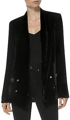 Paige Women's Karissa Velvet Zip-Pocket Blazer