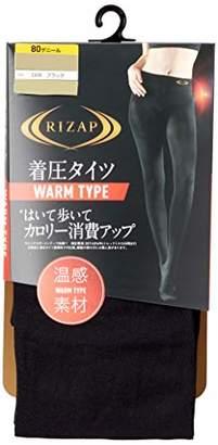 Gunze (グンゼ) - [グンゼ] タイツ RIZAP はいて歩いてカロリー消費アップ 着圧タイツウォームタイプ RZW202 レディース ブラック 日本 M-L (日本サイズM相当)