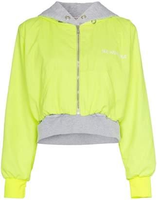 Natasha Zinko double layered hooded cotton blend jacket