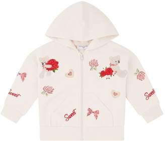 MonnaLisa Embroidered Bear Hoodie