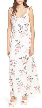 Rowa Row A Flutter Sleeve Maxi Dress