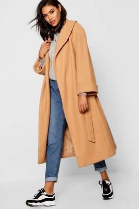 boohoo Oversized Belted Robe Coat