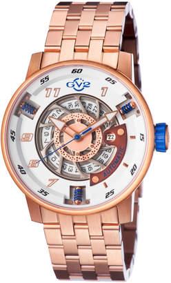 Gv2 48mm Men's Motorcycle Sport Automatic Bracelet Watch, Rose