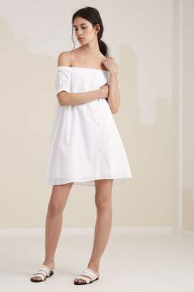 Fifth Sun THE VALLEY DRESS white