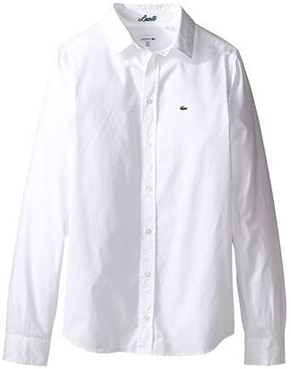 Lacoste Kids Long Sleeve Classic Oxford Shirt (Little Kids/Big Kids)