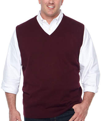 Claiborne Mens V Neck Sweater Vest Big and Tall