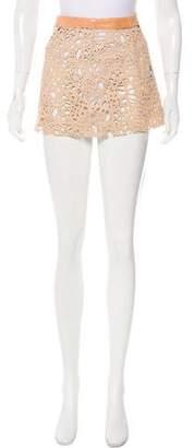 Thomas Wylde Laser Cut Mini Skirt