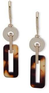 Lauren Ralph Lauren Link Geometric Crystal Drop Earrings