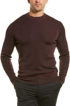 Dunhill Fine Stripe Wool, Cashmere, & Silk-Blend Crewneck Sweater