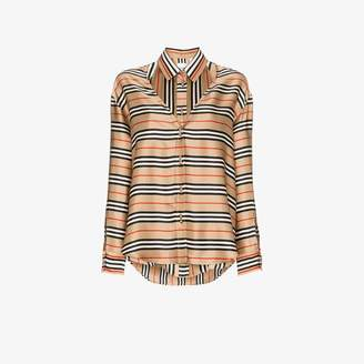 Burberry 2 in 1 halterneck silk shirt