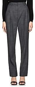 The Row Women's Brina Wool-Blend High-Waist Trousers - Grey Melange