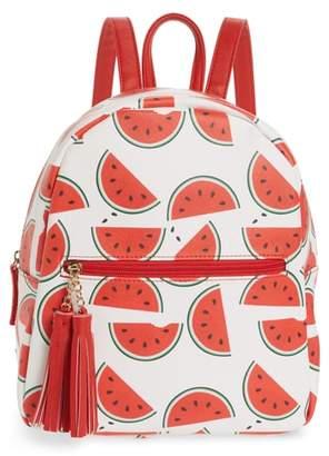 DEB & DAVE ACCESSORIES Mini Watermelon Print Backpack