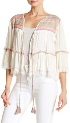 Z&L Europe Cropped Metallic Embroidered Jacket