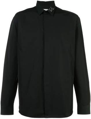 Saint Laurent embroidered Yves collar shirt