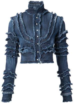 DSQUARED2 frayed denim jacket