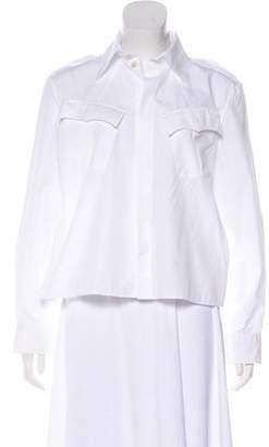 Jean Paul Gaultier Long Sleeve Zip-Up Blouse