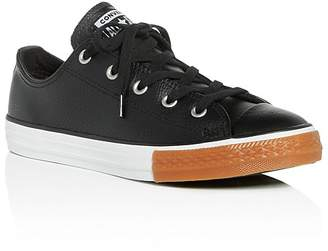 Converse Unisex Chuck Taylor All Star Leather Lace Up Sneakers - Toddler, Little Kid