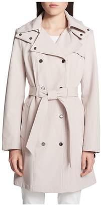Calvin Klein Women's Classic Hooded Trench Coat
