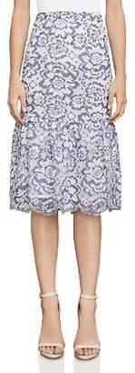 BCBGMAXAZRIA Jesse Lace Midi Skirt