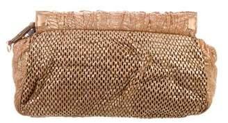 Miu Miu Metallic Perforated Clutch
