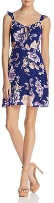 J.o.a. Tie Detail Floral Print Dress
