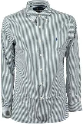 Ralph Lauren Logo Striped Fitted Shirt