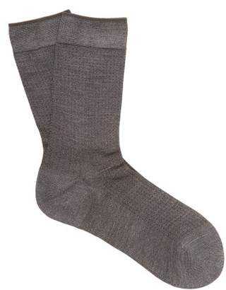 Falke No.2 Silk Blend Socks - Womens - Dark Grey