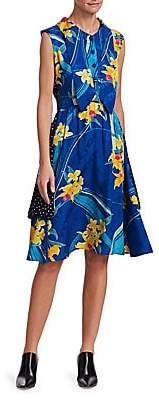 Vetements Women's Printed Double Dress