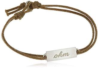 Me & Ro Me&Ro Sterling Double-Sided Ohm ID Cord Strand Bracelet