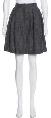 Cacharel Pleated Wool Skirt