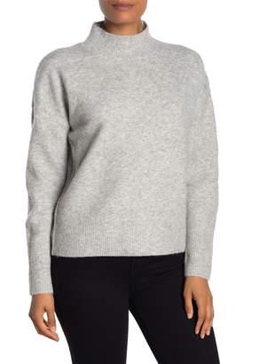 Magaschoni M Mock Neck Long Sleeve Drop Shoulder Sweater