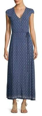 Lucky Brand Tied Tapestry-Print Maxi Dress