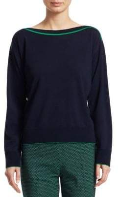Piazza Sempione Virgin Wool Boatneck Sweater