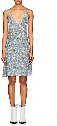R 13 Women's Floral Silk-Blend Slipdress