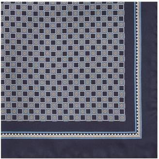 Reiss Conner Checker Board Silk Pocket Square