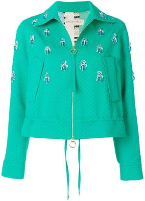 Emilio Pucci embellished textured jacket
